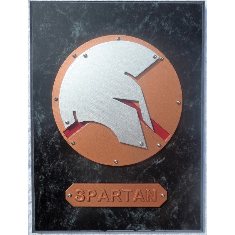 Painted Spartan Plaque (S) 9X12