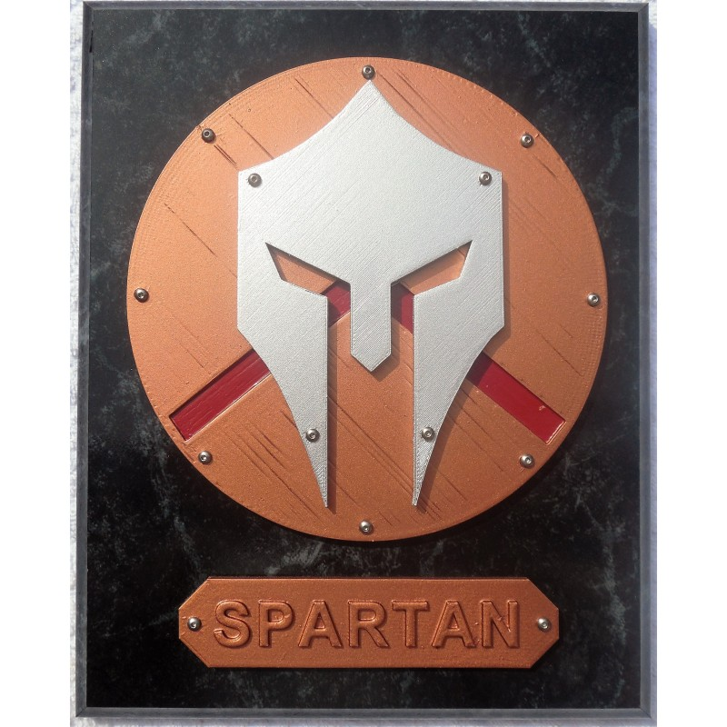 Painted Spartan Plaque